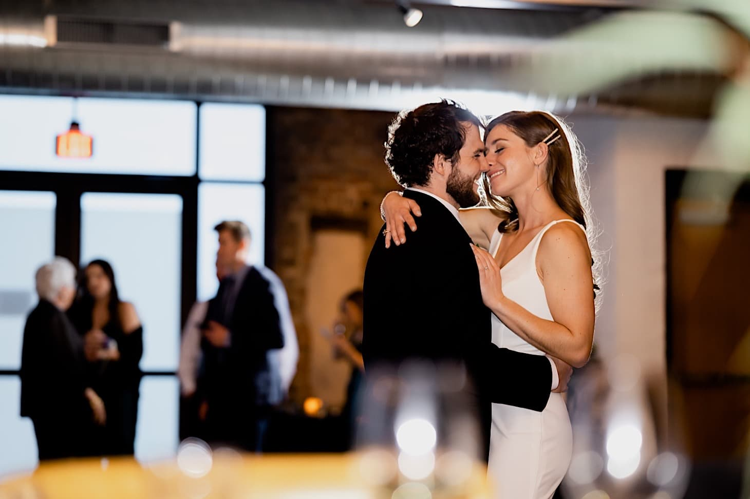 bride and groom first dance Iowa wedding photography