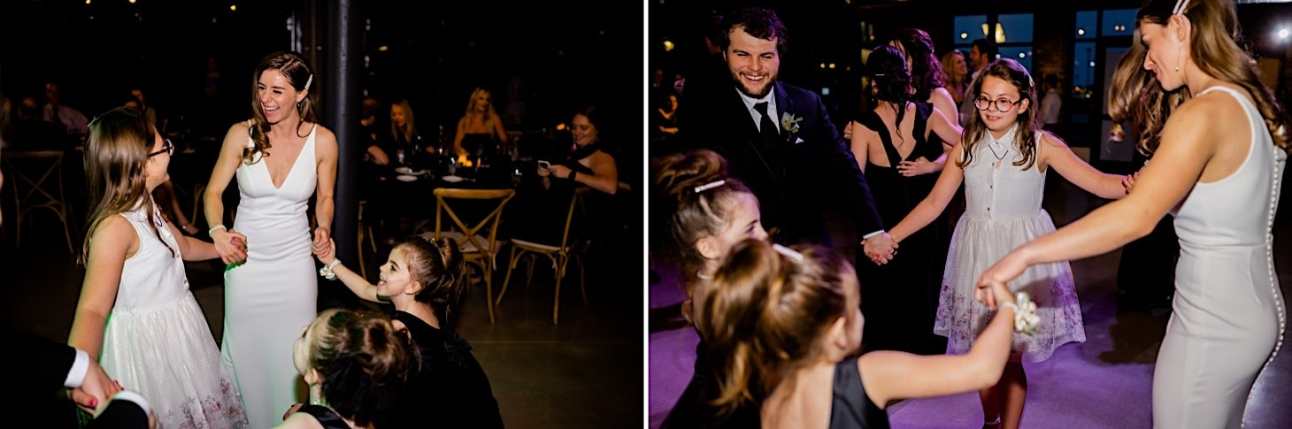 wedding reception dancing River Center