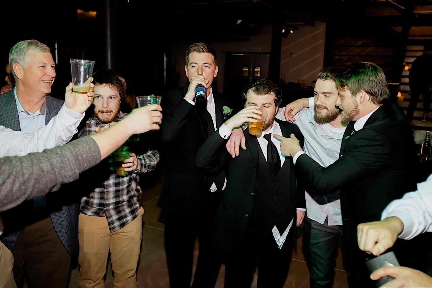 wedding toasts River Center reception