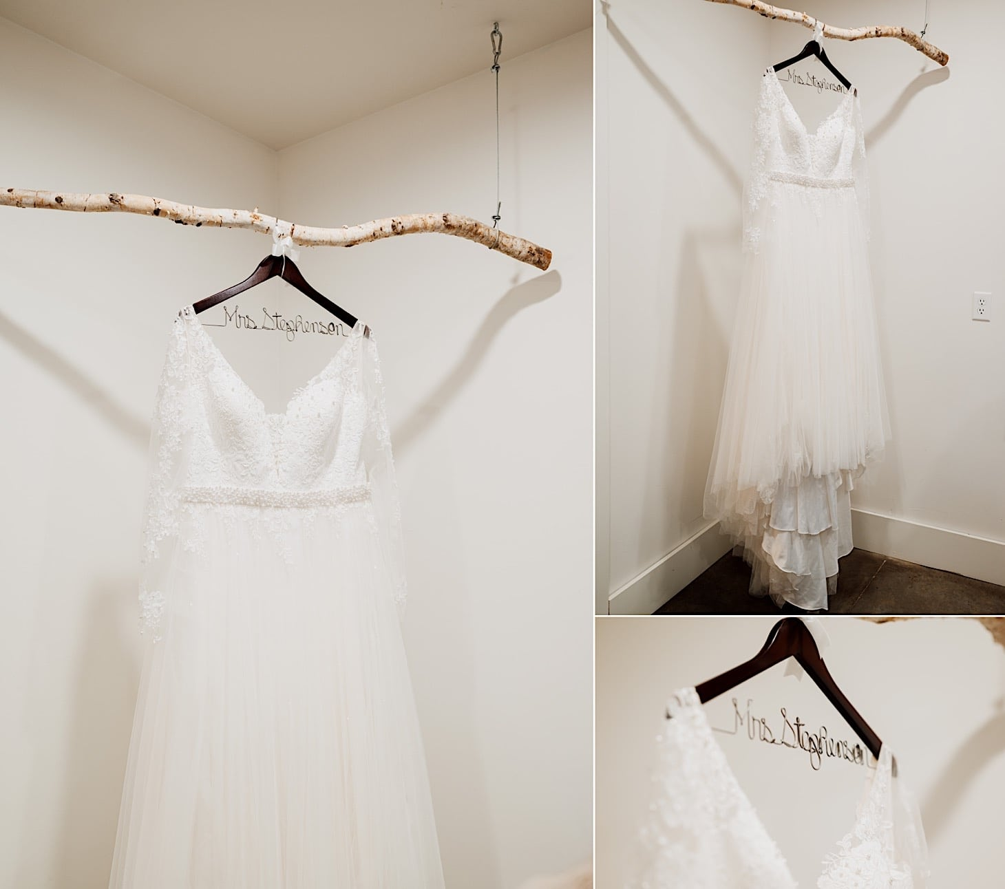 wedding gown at red acre barn des moines