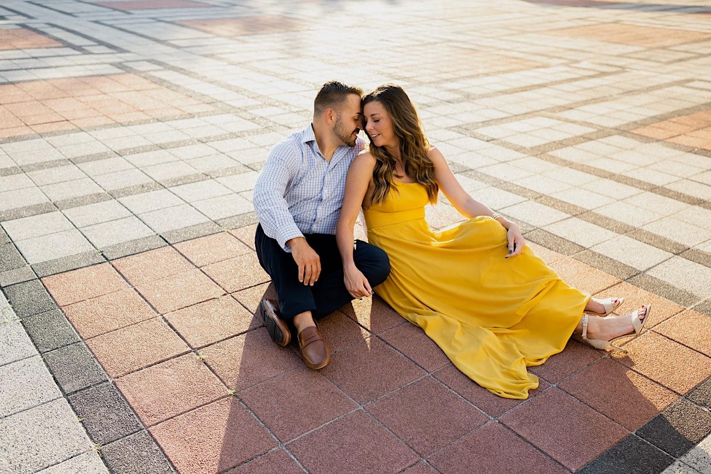 bright summer engagement photos