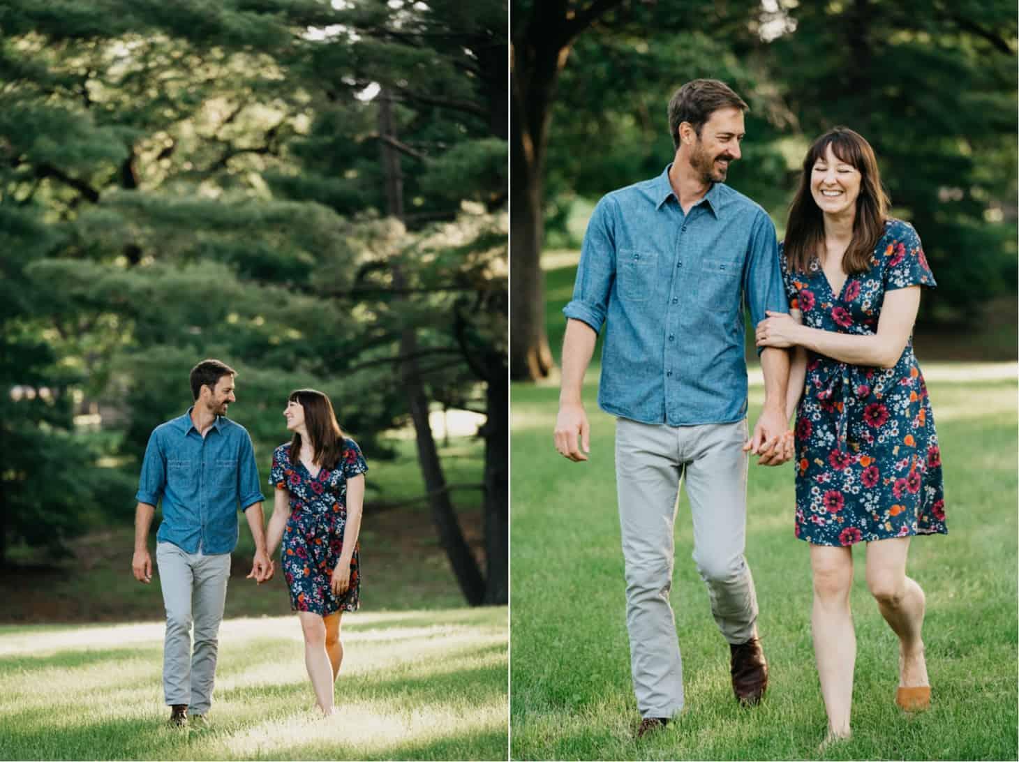 summer engagement photos Des Moines