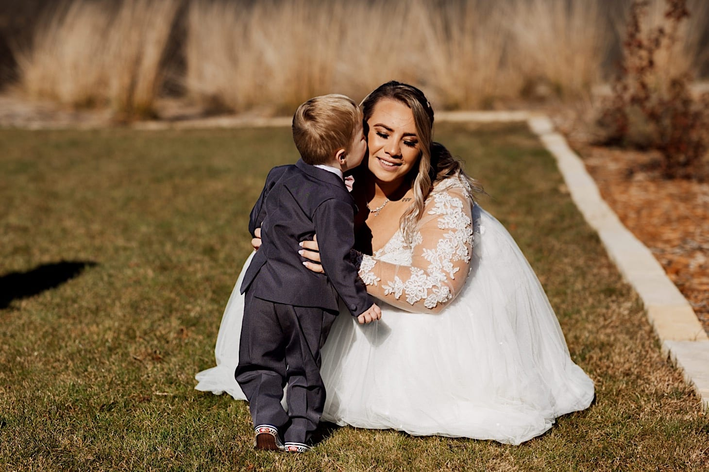 ring bearer with bride Des Moines Iowa