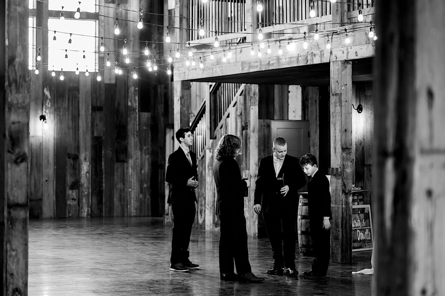 groomsmen at Red Acre Barn