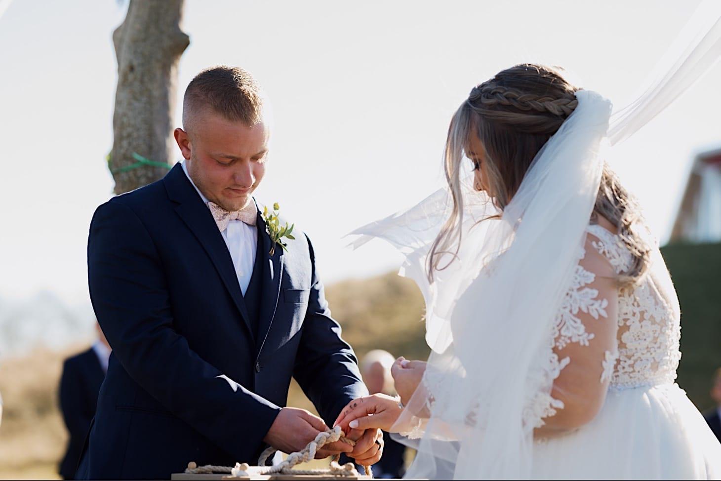 wedding vows at Des Moines wedding ceremony