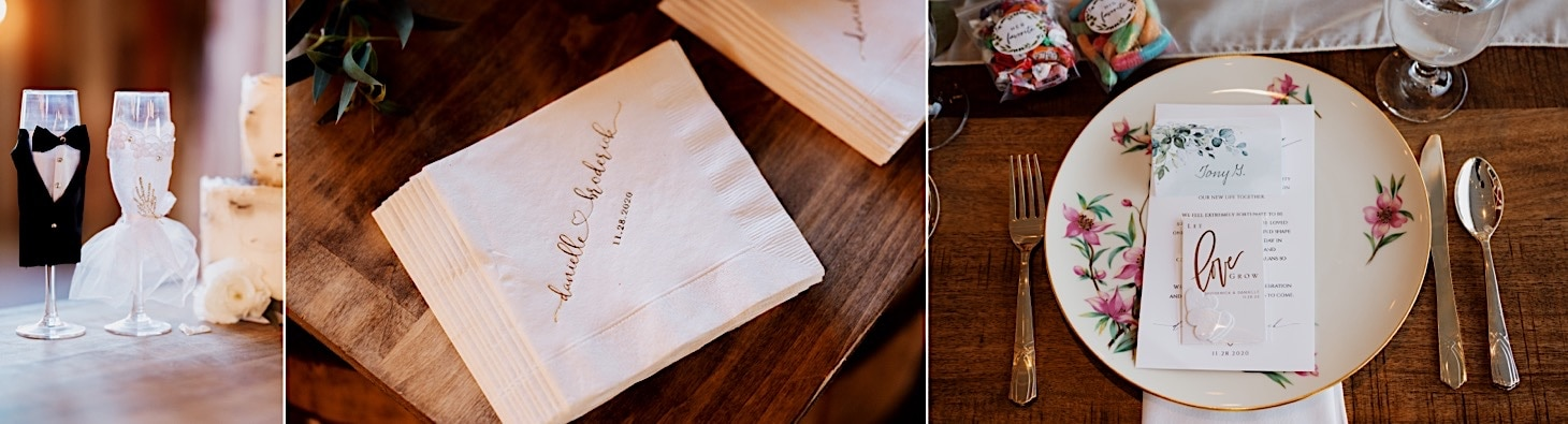 reception details red acre barn photos