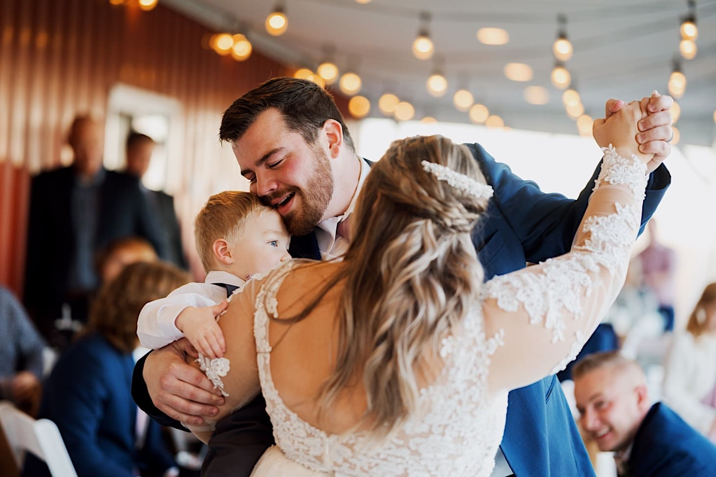 wedding dance photos red acre barn iowa