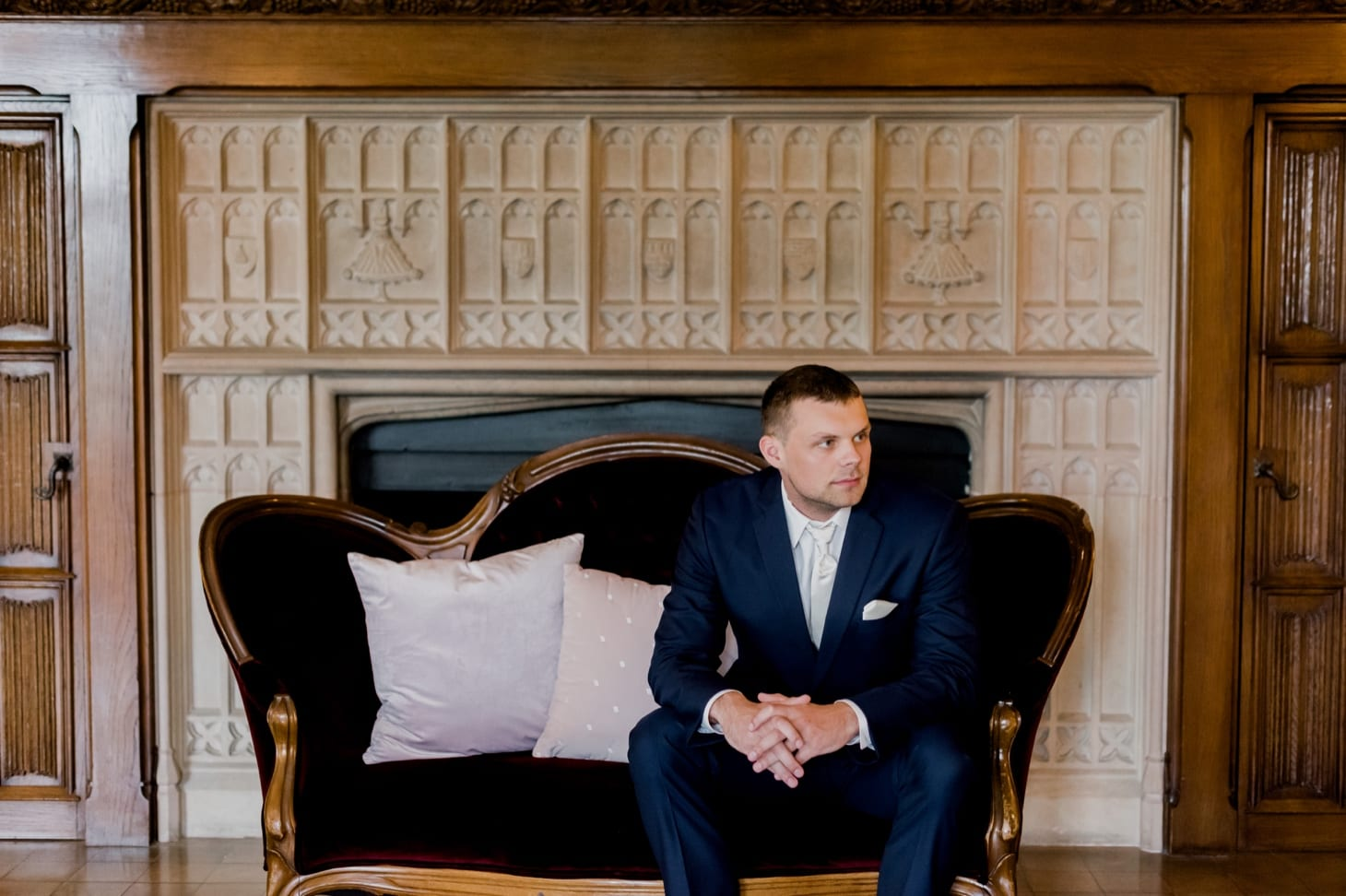 groom portrait rollins mansion wedding