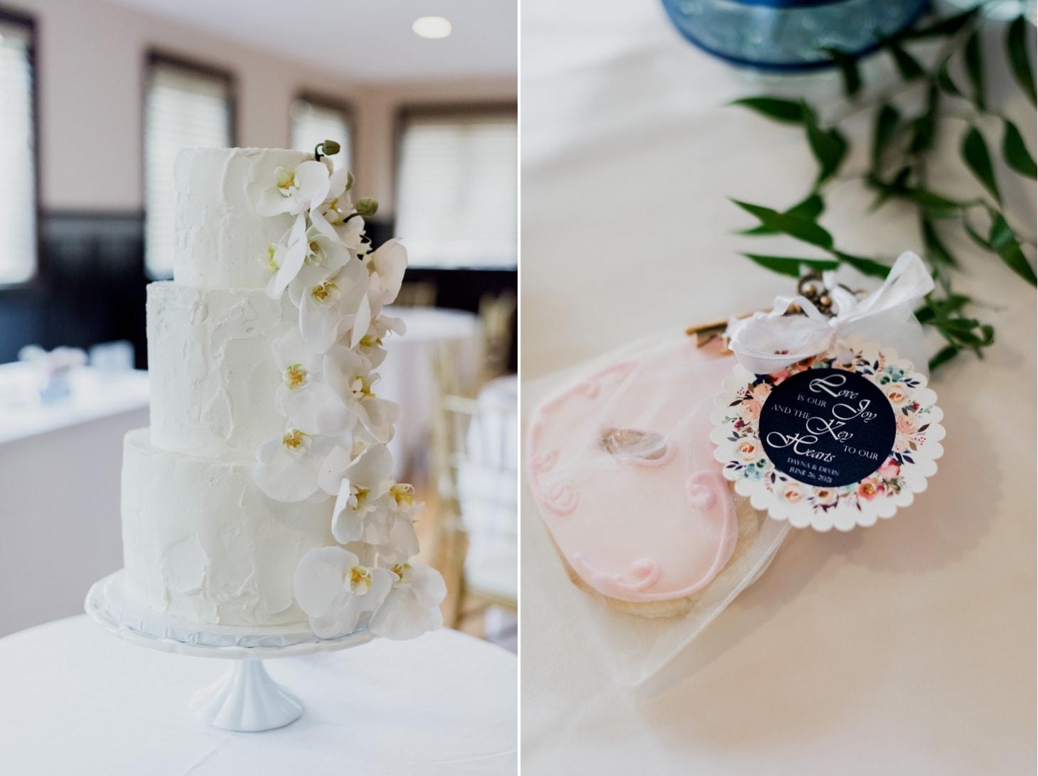 wedding cake at rollins mansion des moines