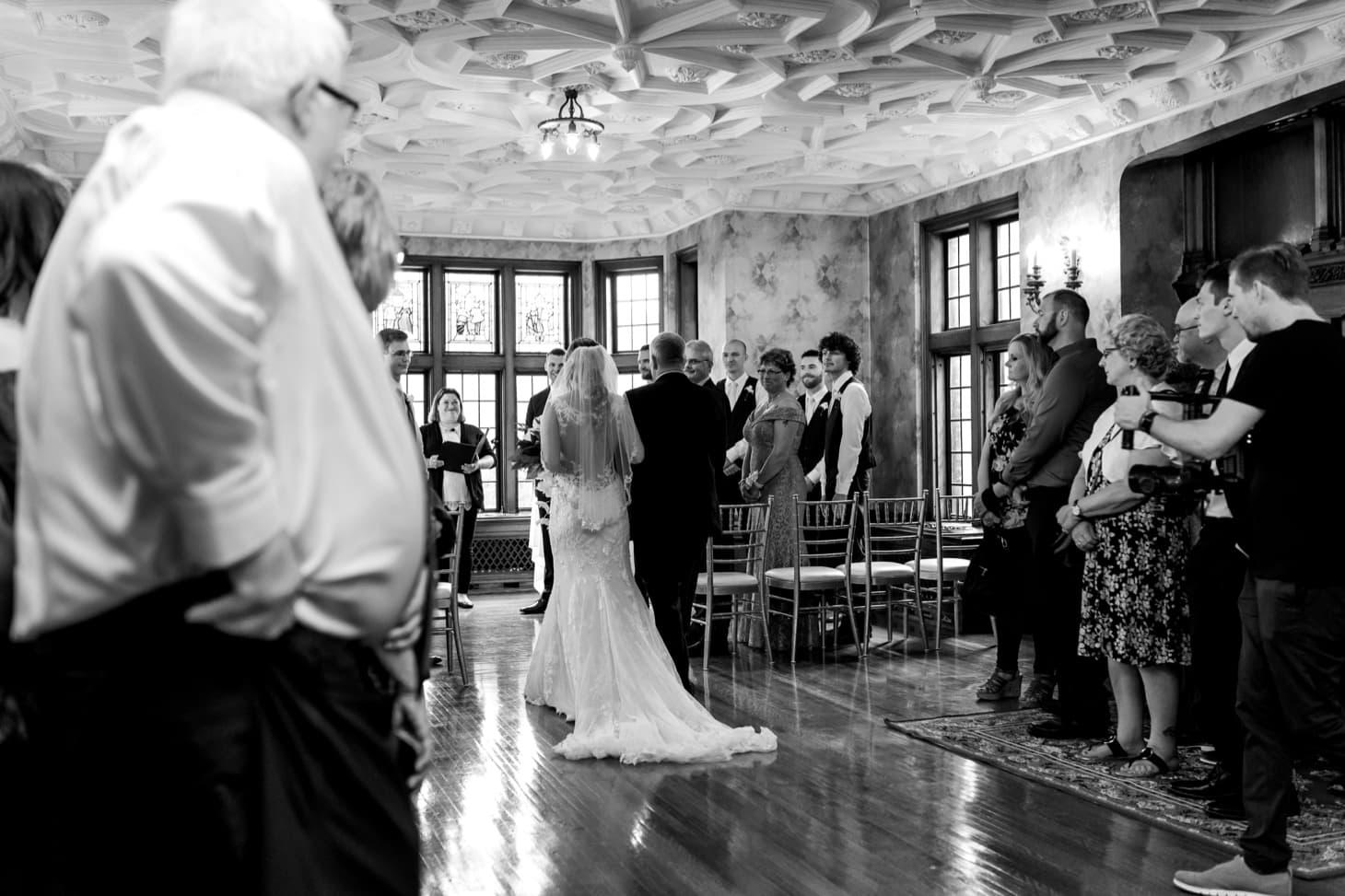 bride walking down the aisle des moines iowa wedding