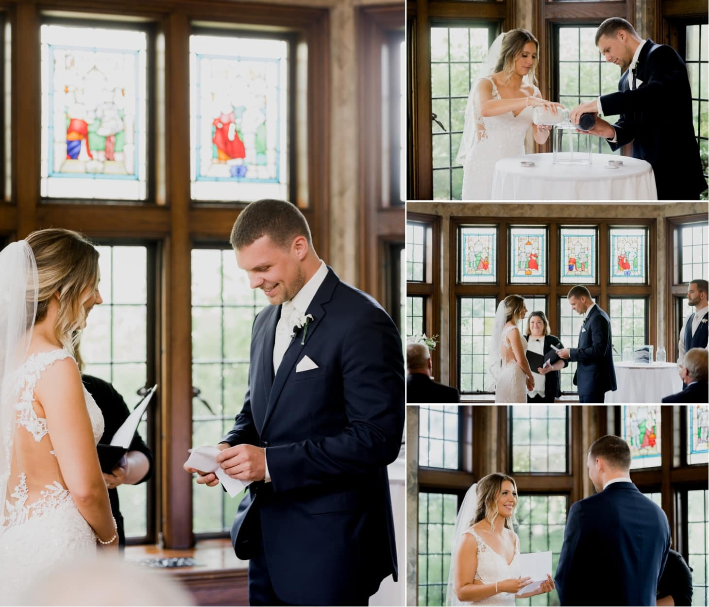 wedding vows at rollins mansion des moines