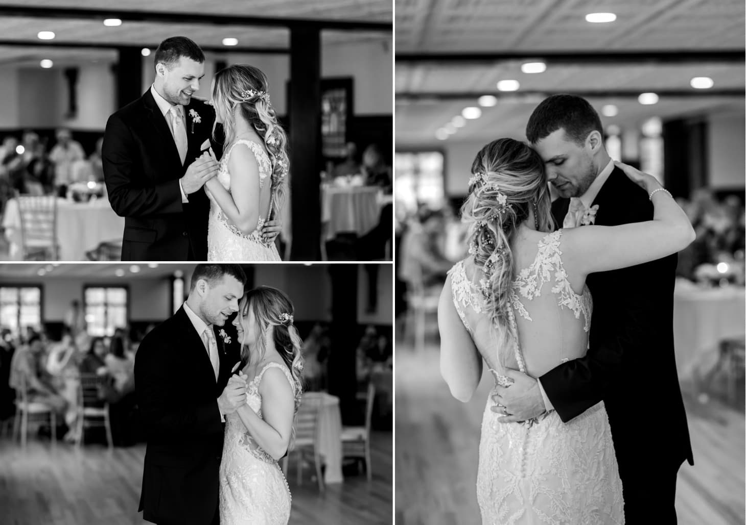 bride and groom first dance des moines iowa