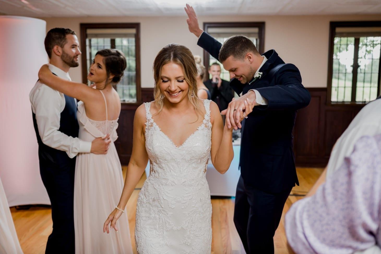 wedding dance at rollins mansion